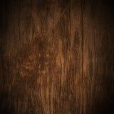 Tappning på wood texturbakgrund för gammal mörk grunge Royaltyfri Fotografi