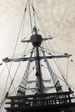 Tappning piratkopierar skeppet Royaltyfri Fotografi