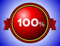 Tappning 100 procent tecken Royaltyfria Bilder