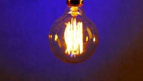 Tappning Retro Edison Lamp Light Bulb lager videofilmer