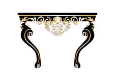 Tappning Rich Baroque Table Arkivfoto