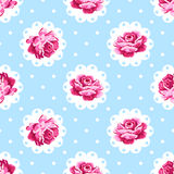 Tappning Rose Pattern Royaltyfri Foto