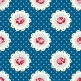 Tappning Rose Pattern Royaltyfria Bilder