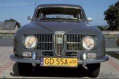 Tappning Saab parkerade Royaltyfri Fotografi
