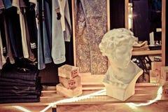 Tappning shoppar skärm Royaltyfri Fotografi