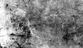 Tappning skrapade grungesamkopieringar på isolerad vit bakgrund för copyspace arkivbild