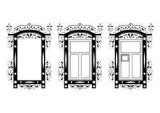Tappning sned ramen för en spegel eller ett fönster Royaltyfri Bild