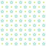 Tappning som belägger med tegel den sömlösa modellen med slog stjärnor Abstrakt retro prydnad som göras av enkla former Arkivbild