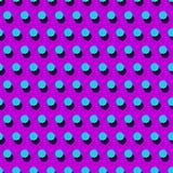 Tappning som belägger med tegel den sömlösa prickmodellen Prickig retro prydnad som göras av enkla geometriska former Arkivfoton