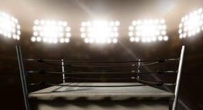 Tappning som boxas Ring In Arena Royaltyfri Bild