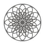 Tappning som färgar prydnaden, dekorativ beståndsdel för blomma, vektor stock illustrationer