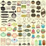 Tappning som säljer emblemet för högvärdig kvalitets- jumbosamling Arkivfoto