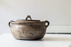 Tappning Stew Pot Fotografering för Bildbyråer