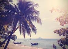 Tappning stiliserat foto av den Andaman havskusten Arkivfoton