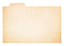 Tappning Tabbed indexkort Royaltyfri Bild