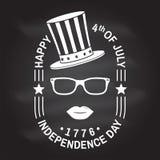 Tappning 4th av den juli designen i retro stil Sj?lvst?ndighetsdagenh?lsningkort Patriotiskt baner f?r websitemall vektor vektor illustrationer