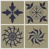Tappning Tiles den keramiska illustrationen Royaltyfri Foto