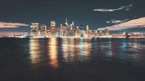 Tappning tonad bild av New York City Fotografering för Bildbyråer