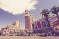 Tappning tonad Las Vegas remsa royaltyfri bild