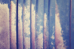 Tappning tonad suddig abstrakt rostig metallbakgrund Fotografering för Bildbyråer
