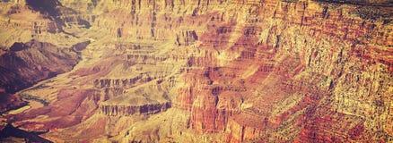 Tappning tonade abstrakt naturlig bakgrund, Grand Canyon, USA Royaltyfri Fotografi