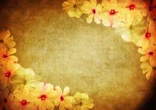 Tappning utformad blom- ram Royaltyfri Fotografi