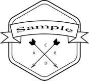 Tappning utformade designhipstersymboler Vektortecken och symbolmallar Arkivbild
