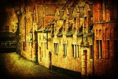 Gammala hus i Bruges Royaltyfria Foton