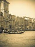 Tappning Venedig, storslagen kanal, Italien Arkivbilder