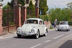 Tappning Volkswagen Beetle Arkivfoto