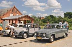 Tappning Volvo, Citroen och Saab Royaltyfri Foto