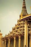 Tappning Wat Phra Kaew Arkivfoto