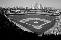 Tappning Wrigley Field, Chicago, IL Arkivbild