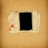 Tappningalbum med pappersramar för foto royaltyfri foto