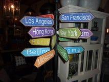 Tappningantikvitet för riktningar runt om världen Royaltyfria Bilder