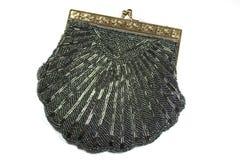 TappningArts Deco Womans handväska på vit bakgrund Arkivfoton
