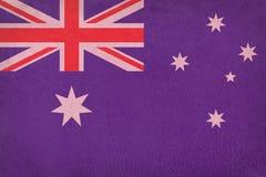 TappningAustralien flagga på läder Arkivbilder