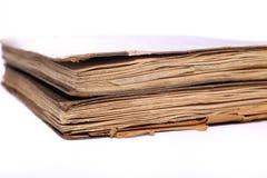 Tappningböcker med slitna sidor Royaltyfri Fotografi