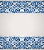 Tappningbakgrund, antikt hälsningkort Royaltyfri Bild