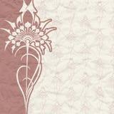 Tappningbakgrund för inbjudan med blommor Royaltyfria Bilder