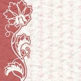 Tappningbakgrund för inbjudan med blommor Royaltyfri Bild