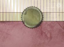 Tappningbakgrund med banret och etiketten Stock Illustrationer