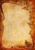Tappningbakgrund med blomman och leafen Royaltyfria Bilder