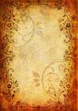 Tappningbakgrund med blomman och leafen Royaltyfri Bild