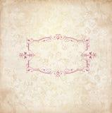 Tappningbakgrund med gammalt blom- ramutrymme för din text Arkivfoton