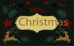 Tappningbakgrund med julbeståndsdelar Arkivbilder