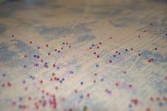 Tappningbakgrund med mång--färgade pärlor Fotografering för Bildbyråer