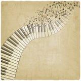 Tappningbakgrund med pianot Royaltyfria Foton