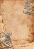 Tappningbakgrund med skrivmaskinen Royaltyfri Fotografi