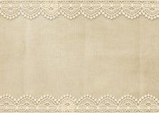 Tappningbakgrund med ursnyggt snör åt Royaltyfri Foto
